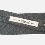 Мужской галстук The Hill-Side Pointed Selvedge Chambray Black фото- 2