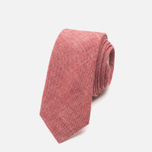 The Hill-Side Pointed Selvedge Men's Tie Chambray Red photo- 0