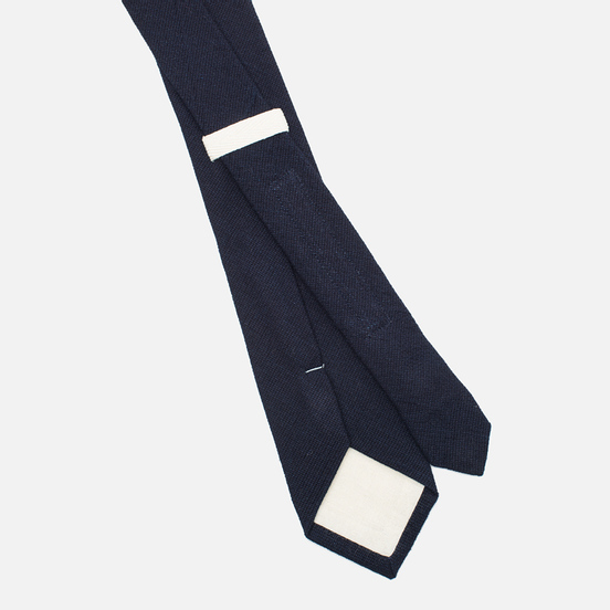 Мужской галстук The Hill-Side Pointed Selvedge Panama Cloth Indigo