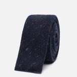 Мужской галстук The Hill-Side Square End Wool Blend Galaxy Tweed Navy фото- 0