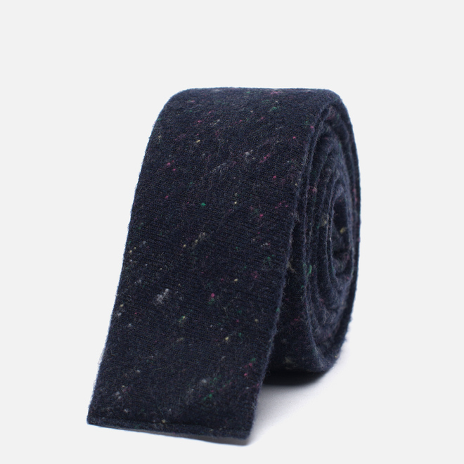 Мужской галстук The Hill-Side Square End Wool Blend Galaxy Tweed Navy
