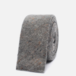 Мужской галстук The Hill-Side Square End Wool Blend Galaxy Tweed Oatmeal фото- 0
