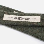 Мужской галстук The Hill-Side Square End Wool Blend Galaxy Tweed Olive фото- 2