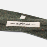 Мужской галстук The Hill-Side Wool Blend Galaxy Tweed Olive фото- 2