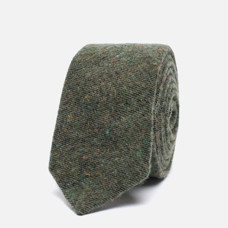 Мужской галстук The Hill-Side Wool Blend Galaxy Tweed Olive