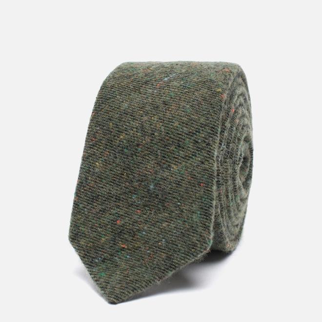 Мужской галстук The Hill-Side Wool Blend Galaxy Tweed Olive