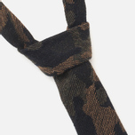 Мужской галстук The Hill-Side Pointed Wool Jacquard Camo Olive фото- 1