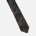 Мужской галстук The Hill-Side Pointed Wool Jacquard Camo Olive фото- 2