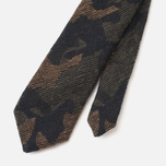 Мужской галстук The Hill-Side Pointed Wool Jacquard Camo Olive фото- 3