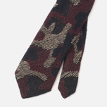 Мужской галстук The Hill-Side Pointed Wool Jacquard Camo Red фото- 3