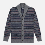 Мужской кардиган Barbour Harvard Fairisle Shawl Grey Marl фото- 0