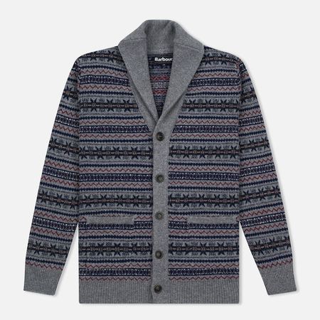 Мужской кардиган Barbour Harvard Fairisle Shawl Grey Marl