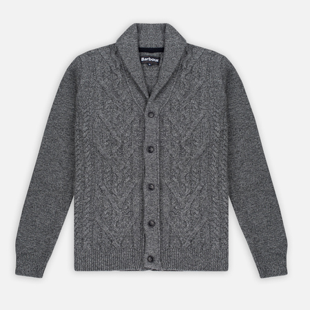 Barbour Isaac Shawl Men's Cardigan Storm Grey