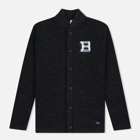Bleu De Paname Belmon Men's Cardigan Antracite