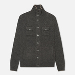 Мужской кардиган Hackett Lambswool Full Button Charcoal фото- 0