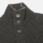 Мужской кардиган Hackett Lambswool Full Button Charcoal фото- 1