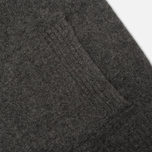 Мужской кардиган Hackett Lambswool Full Button Charcoal фото- 4