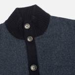 Мужской кардиган Hackett Tweed Wool Cashmere Navy фото- 1