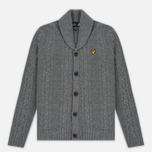 Мужской кардиган Lyle & Scott Shawl Neck Mid Grey Marl фото- 0
