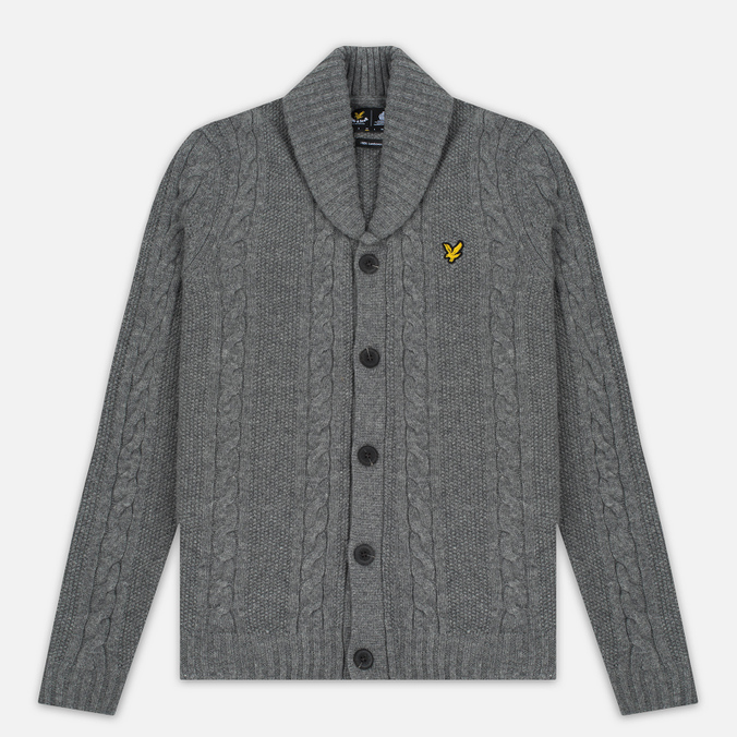 Мужской кардиган Lyle & Scott Shawl Neck Mid Grey Marl