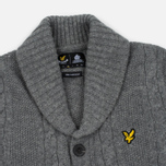 Мужской кардиган Lyle & Scott Shawl Neck Mid Grey Marl фото- 1