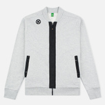 Мужской кардиган MA.Strum Shawl Collar Zip Through Fleece Grey Marl фото- 0
