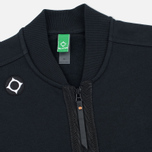 MA.Strum Shawl Collar Zip Through Fleece Men's Cardigan Jet Black photo- 1