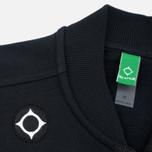 MA.Strum Shawl Collar Zip Through Fleece Men's Cardigan Jet Black photo- 2