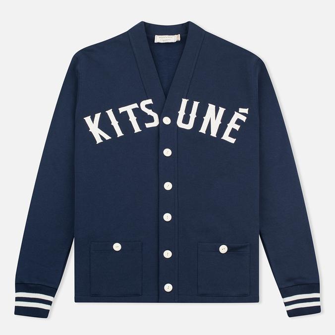 Maison Kitsune Jersey Men's Cardigan Navy