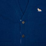 Maison Kitsune Lambswool Classic Men's Cardigan Blue photo- 2