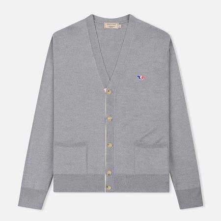Мужской кардиган Maison Kitsune Virgin Wool Classic Grey Melange