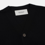 Мужской кардиган Pringle of Scotland Ribbed Trim V-Neck Black фото- 1