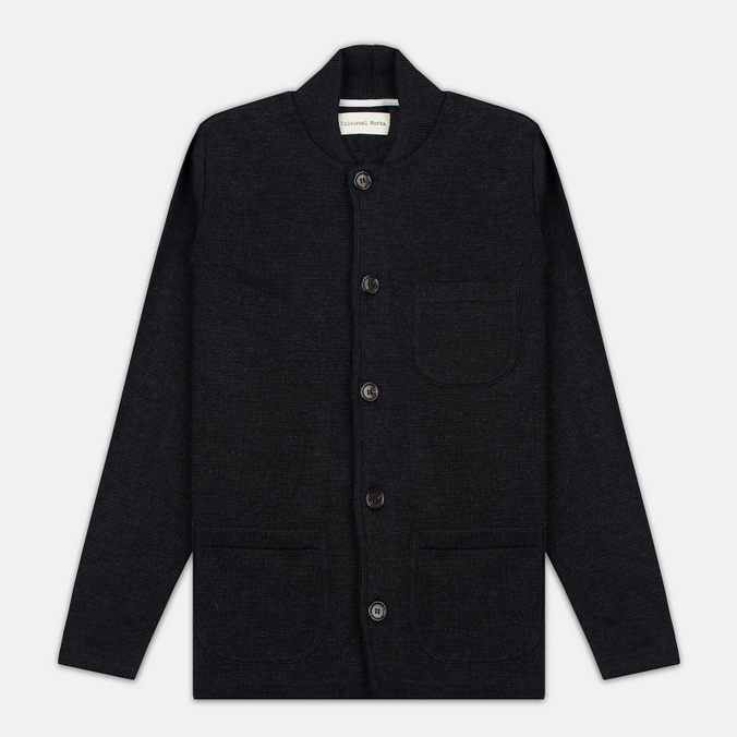 Мужской кардиган Universal Works Knit Work Jacket Half Milano Charcoal