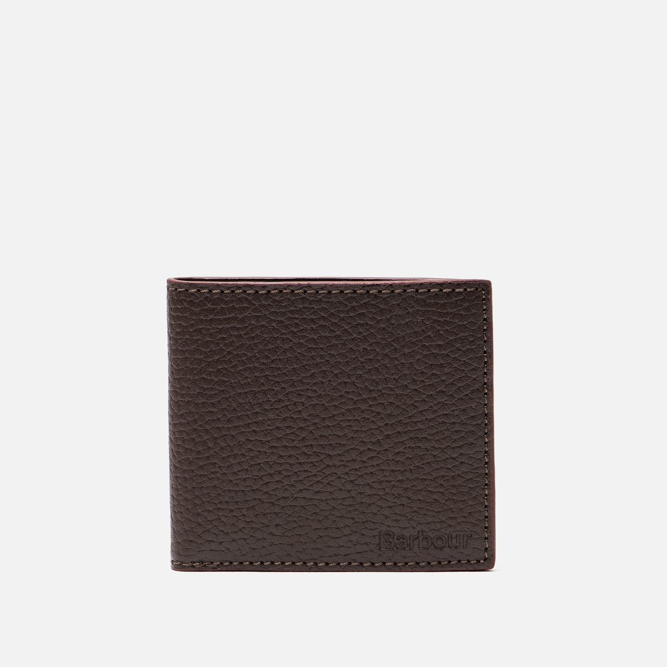 Кошелек Barbour Grain Leather Billfold Dark Brow