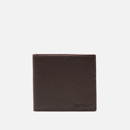 Мужской кошелек Barbour Grain Leather Billfold Dark Brow