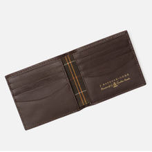 Кошелек Barbour Grain Leather Billfold Dark Brow фото- 3