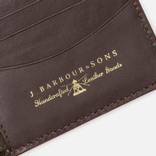 Кошелек Barbour Grain Leather Billfold Dark Brow фото- 4