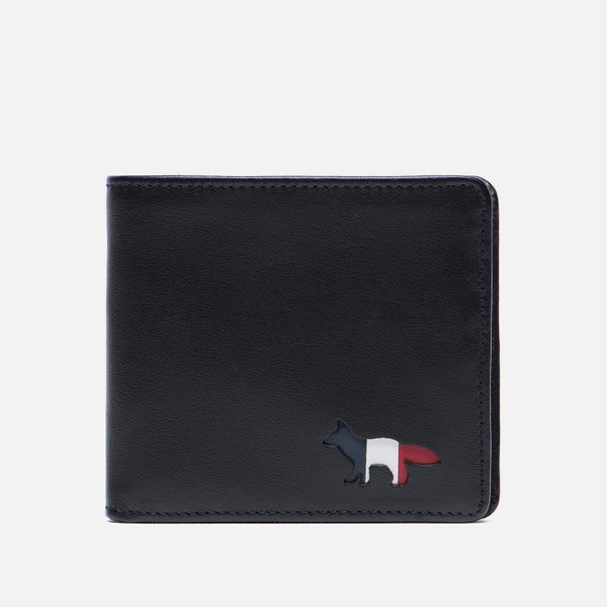 Мужской кошелек Maison Kitsune Tricolor Black