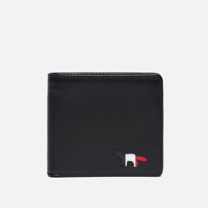 Мужской кошелек Maison Kitsune Tricolor Leather Black