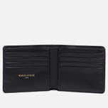 Мужской кошелек Maison Kitsune Tricolor Leather Black фото- 1