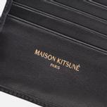 Мужской кошелек Maison Kitsune Tricolor Leather Black фото- 2