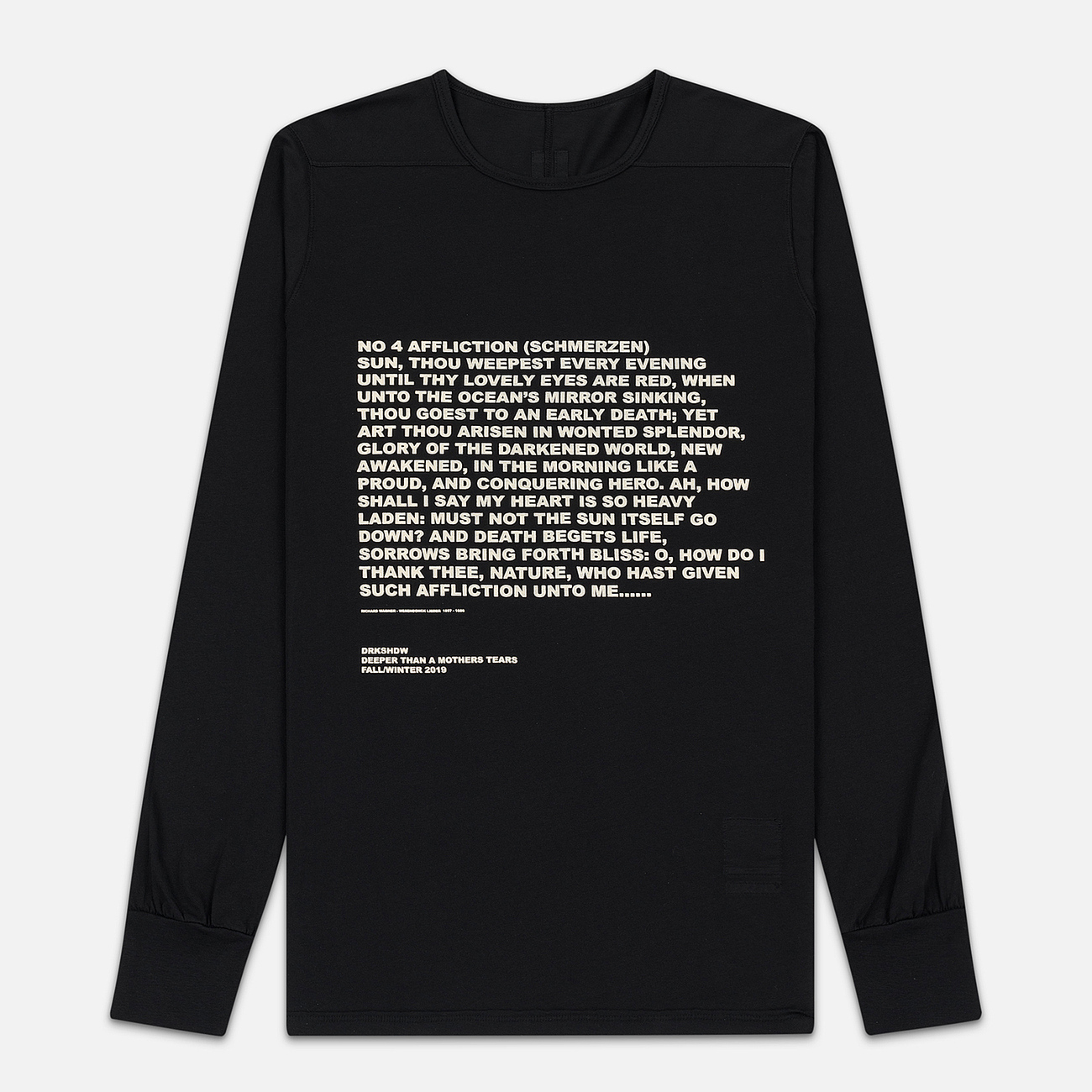 Мужской лонгслив Rick Owens DRKSHDW Level Affliction Print Black/Natural