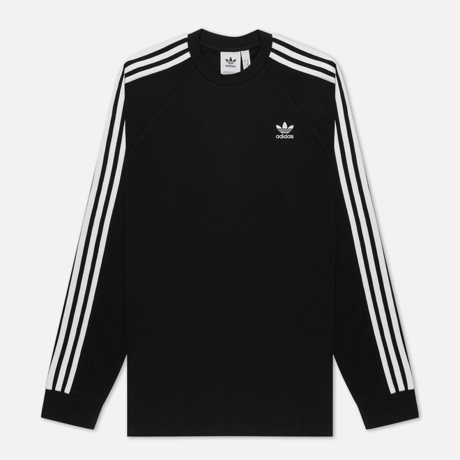 Мужской лонгслив adidas Originals 3-Stripes LS Black