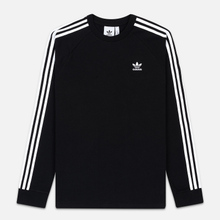 Мужской лонгслив adidas Originals 3-Stripes LS Black фото- 0