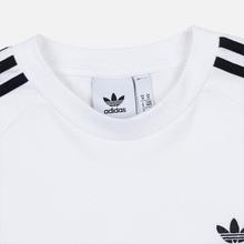 Мужской лонгслив adidas Originals 3-Stripes LS White фото- 1