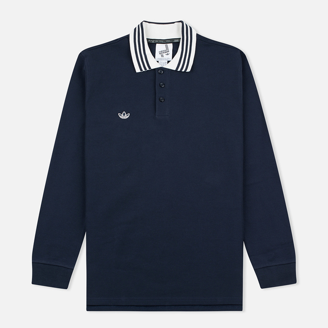 Мужской лонгслив adidas Originals x Spezial LSL Polo Night Navy/Chalk/White
