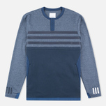 Мужской лонгслив adidas Originals x White Mountaineering Henley Neck Night Navy/Indigo/Marine фото- 0