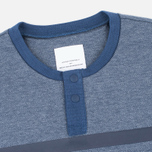 Мужской лонгслив adidas Originals x White Mountaineering Henley Neck Night Navy/Indigo/Marine фото- 1