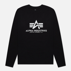 Мужской лонгслив Alpha Industries Basic T Black
