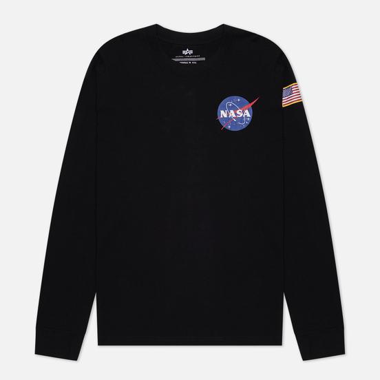 Мужской лонгслив Alpha Industries Basic T Black